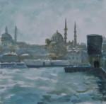 Istanbul,2010,  gouache op papier,24x24 cm