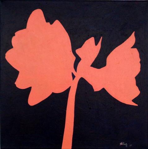 Amaryllis, 40 x 40 cm, 2021