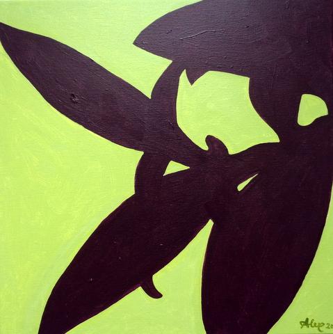 Tradescantia Pallida, 40 x 40 cm, 2020